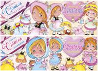 Muñecas clásicas recortables (4 títulos)