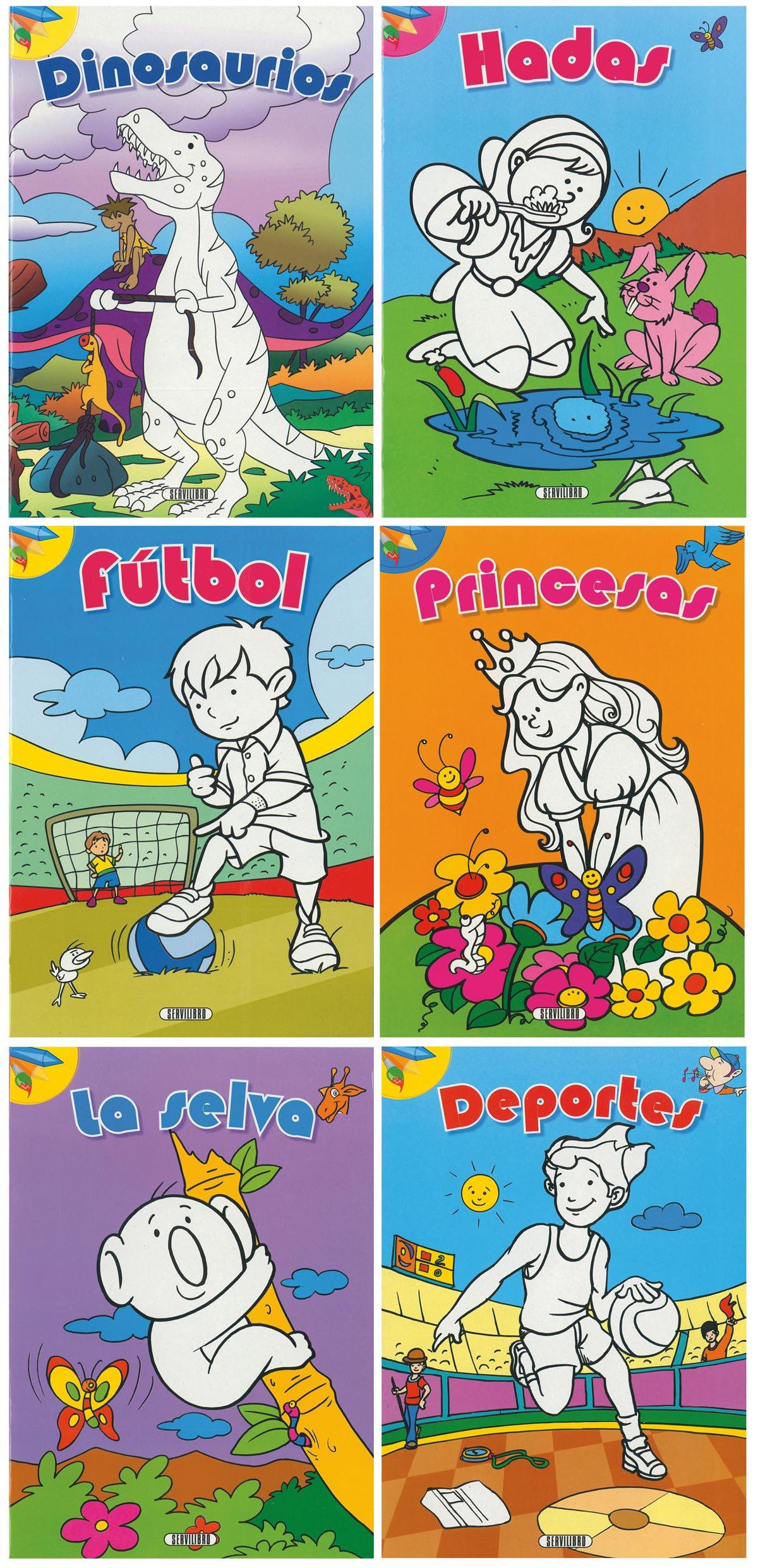 COLORES DIVERTIDOS (6 TITULOS)
