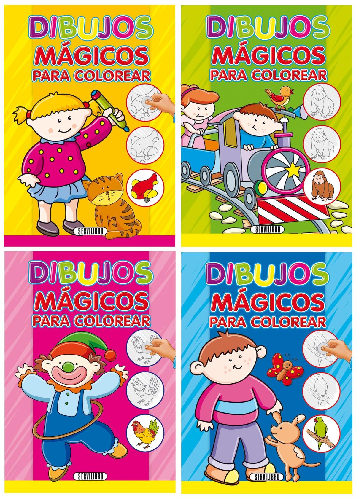 Dorable Truco Mágico Del Libro Para Colorear Bosquejo - Ideas Para ...